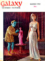 A Blue Alien Sculpts an Elegant Earth Woman